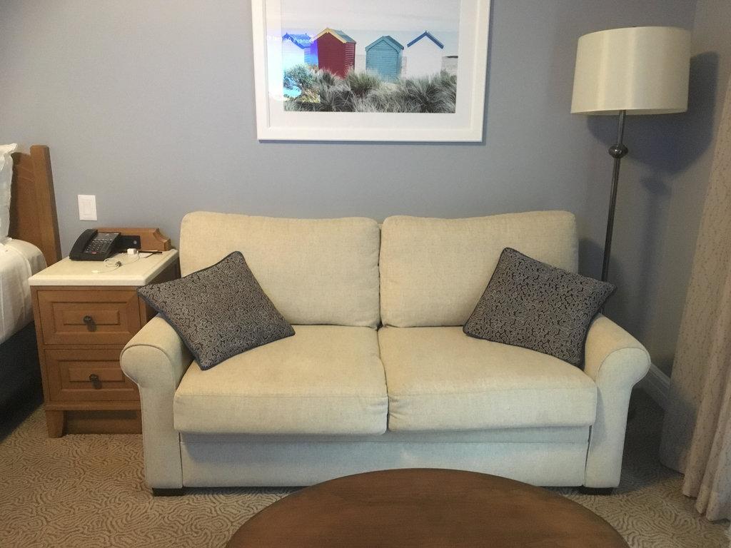 Beach Club Studio | Double Seater Sofa near Bed Area
