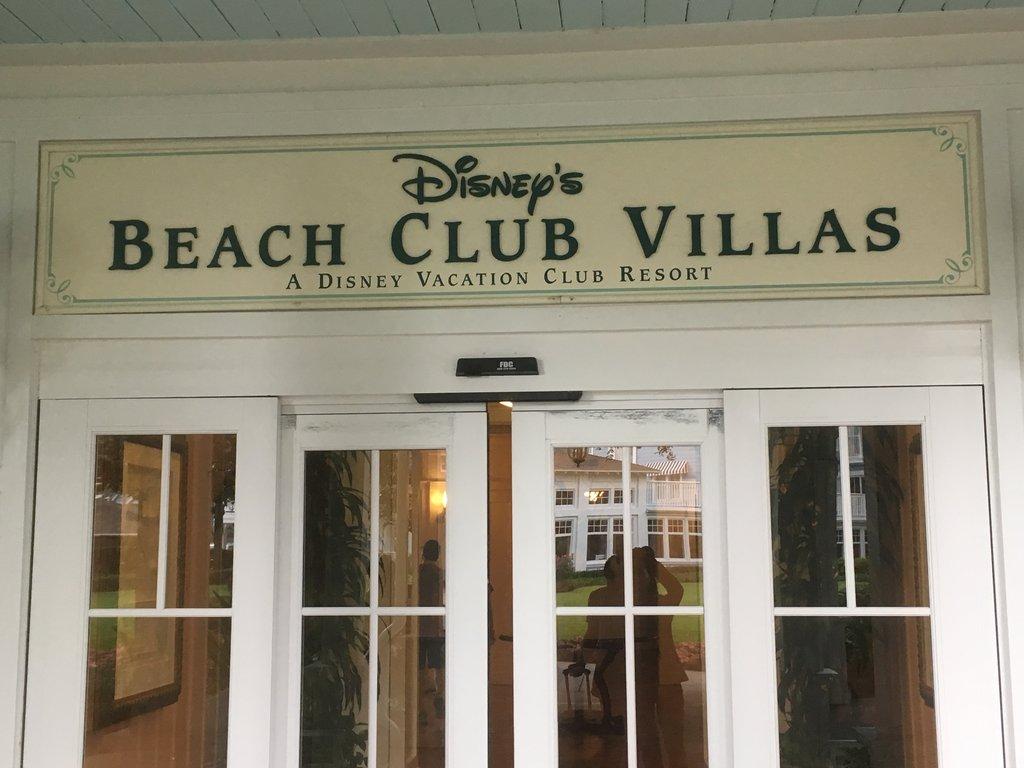 DVC Properties | Beach Club Villas Sign At the Entrance