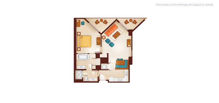 Aulani - One-Bedroom Floor Plan