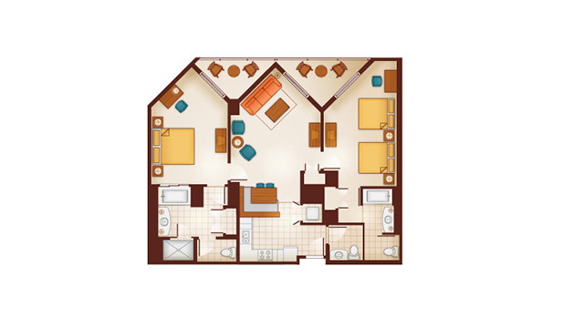 Aulani - Dedicate Two-Bedroom Floor Plan