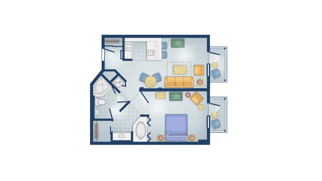 BoardWalk - One Bedroom