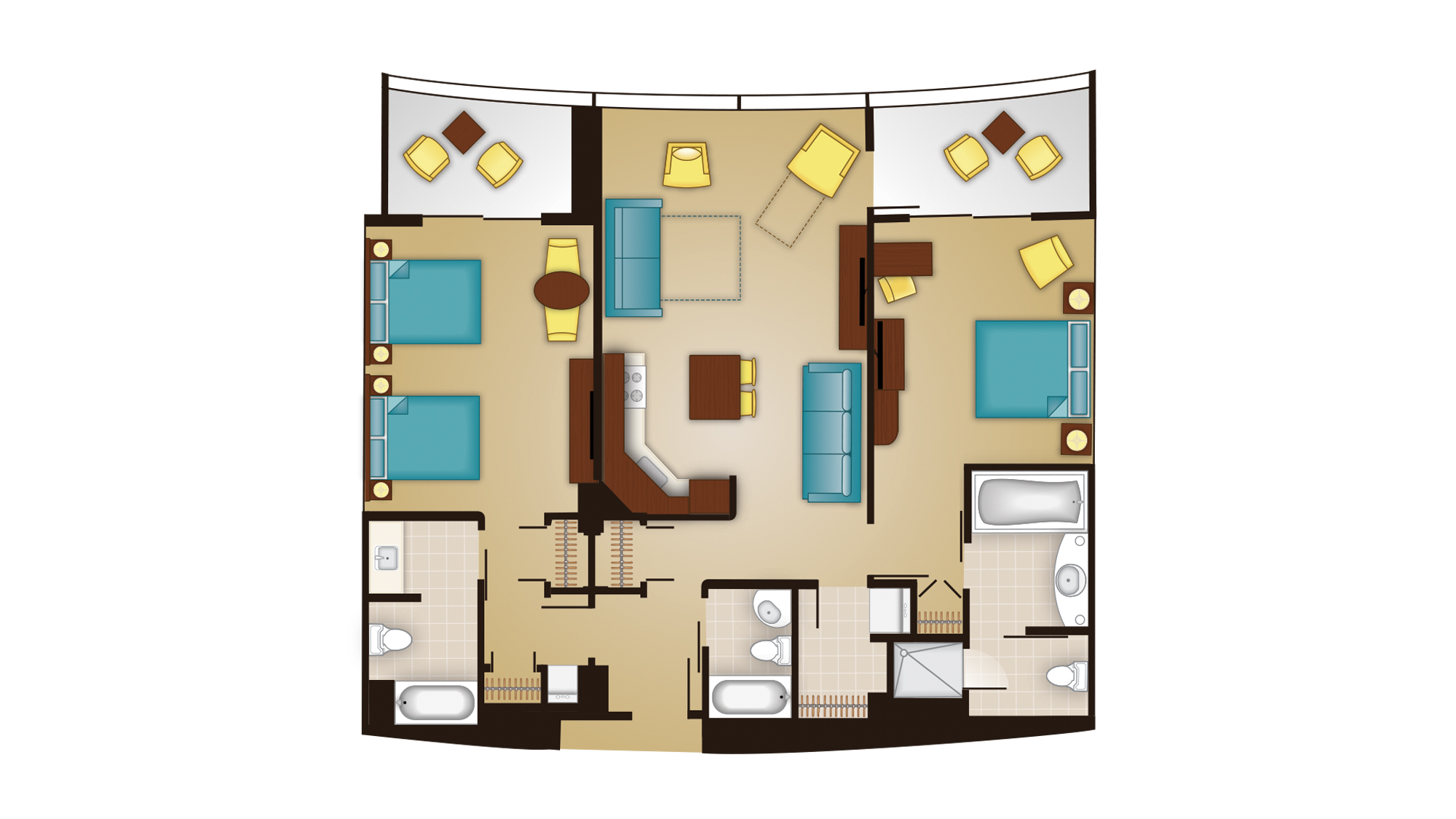 Bay Lake - Dedicated Two-Bedroom Floor Plan