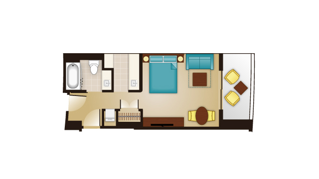 Bay Lake - Deluxe Studio Floor Plan