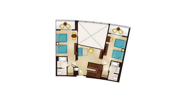 Bay Lake - Grand Villa Second Floor Floor Plan