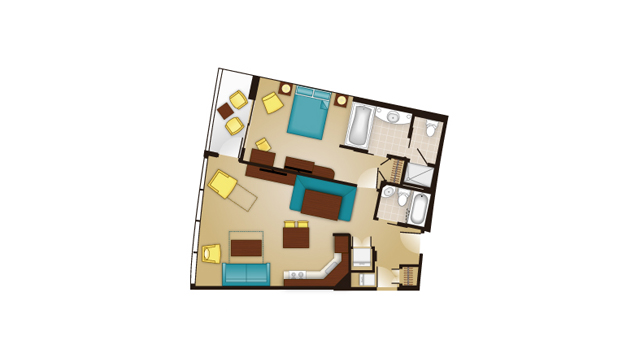 Bay Lake - One-Bedroom Floor Plan