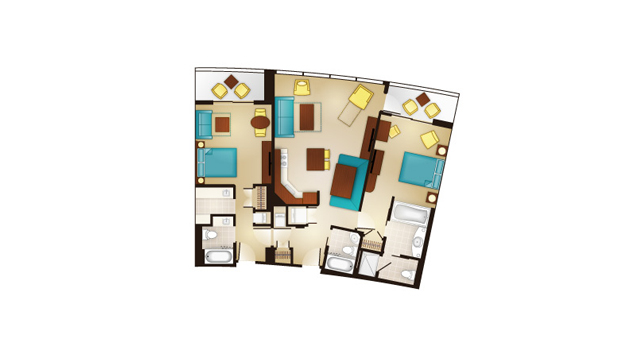 Bay Lake - Two-Bedroom Lock-Off Floor Plan