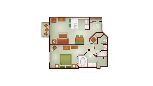 Boulder Ridge - One Bedroom