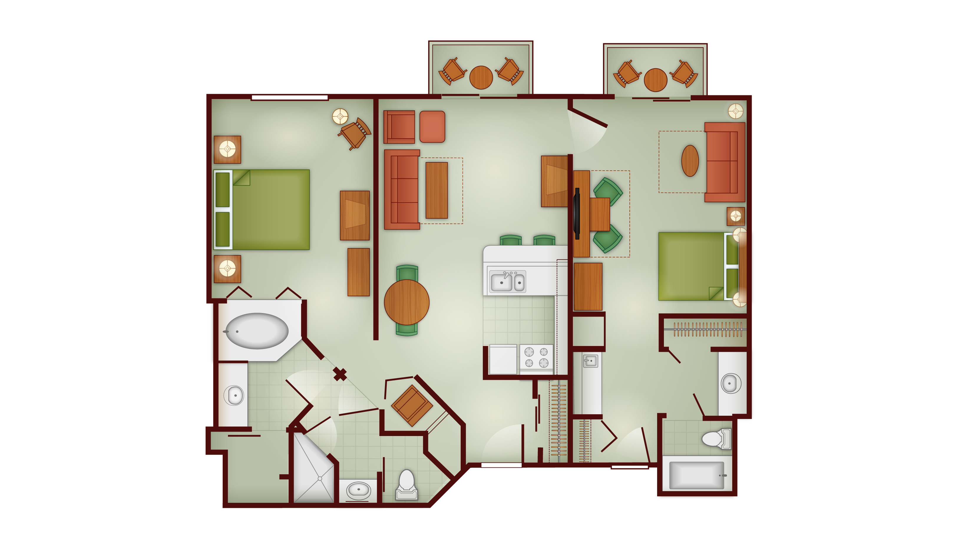 Boulder Ridge - Two Bedroom Lock-Off
