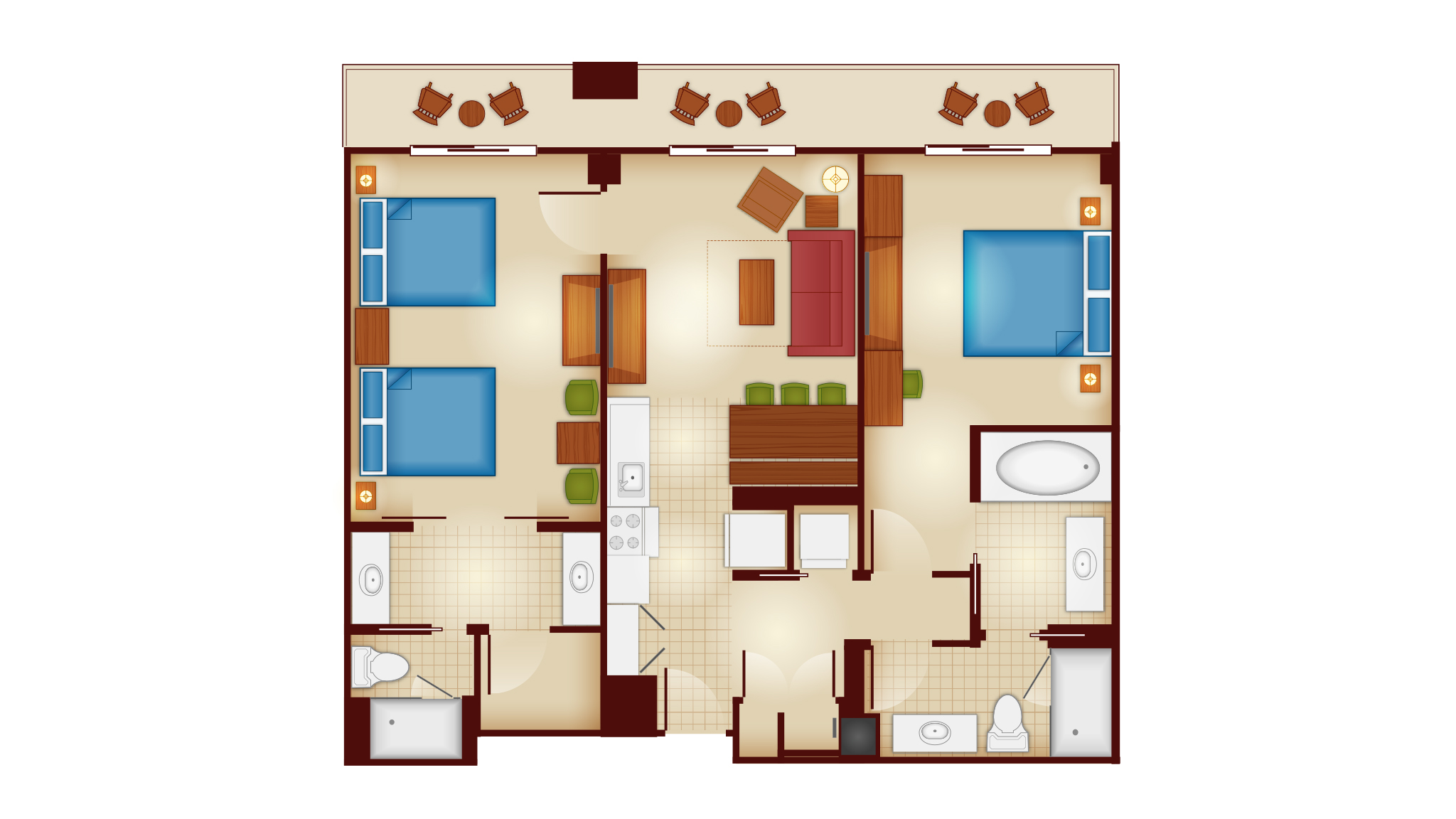 Copper - Dedicated Two Bedroom