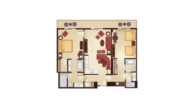 Grand Floridian - Dedicated Two-Bedroom Floor Plan