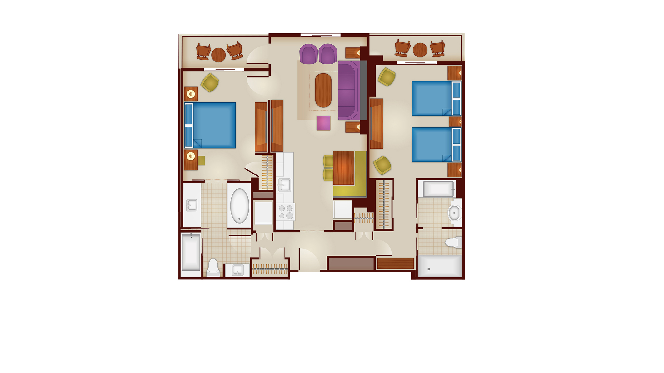 Riviera - Dedicated Two-Bedroom Floor Plan