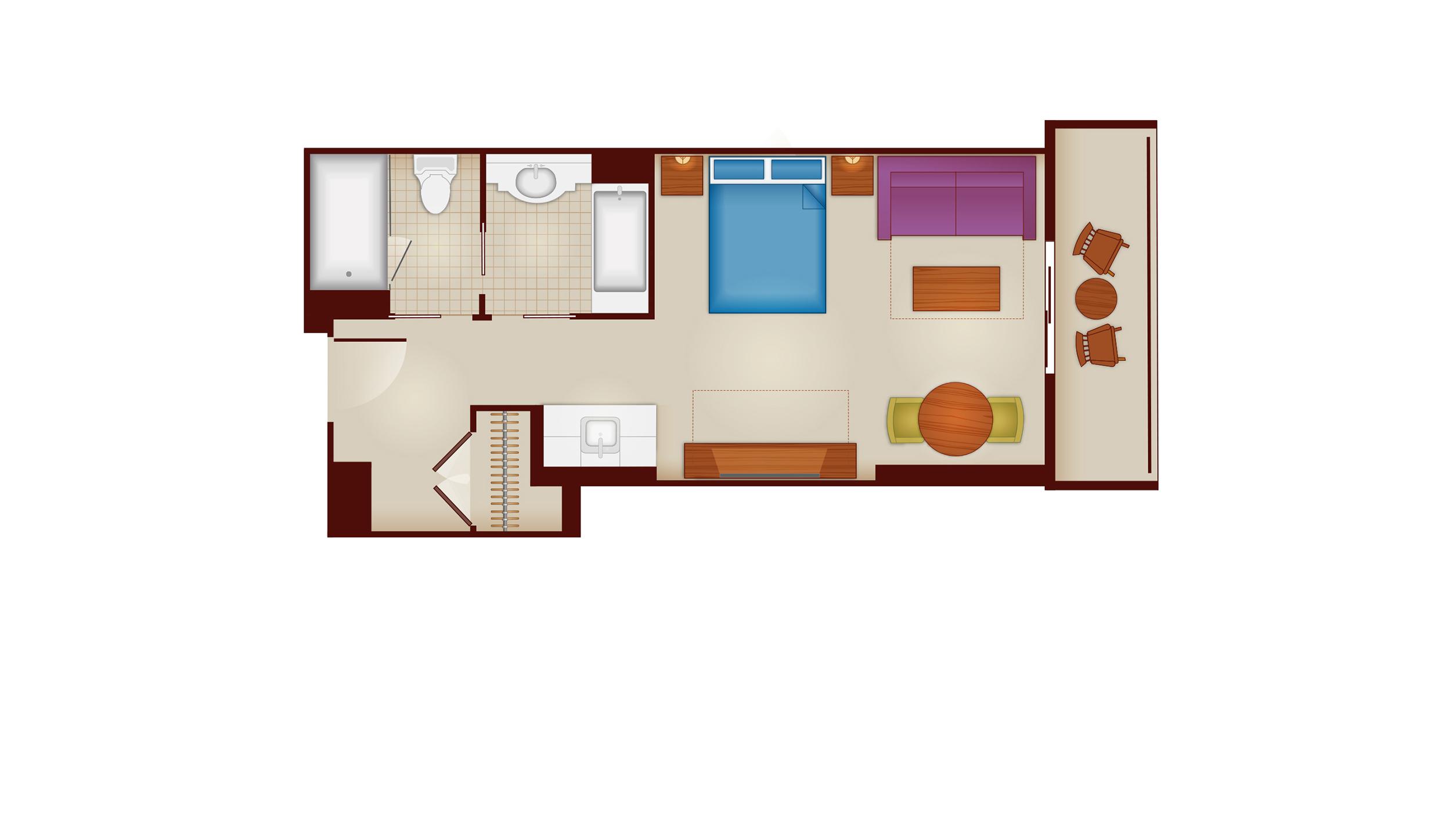Riviera - Deluxe Studio Floor Plan