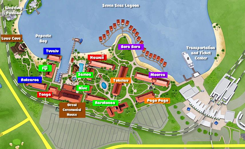 DVC Listing   Map of Polynesian Resort