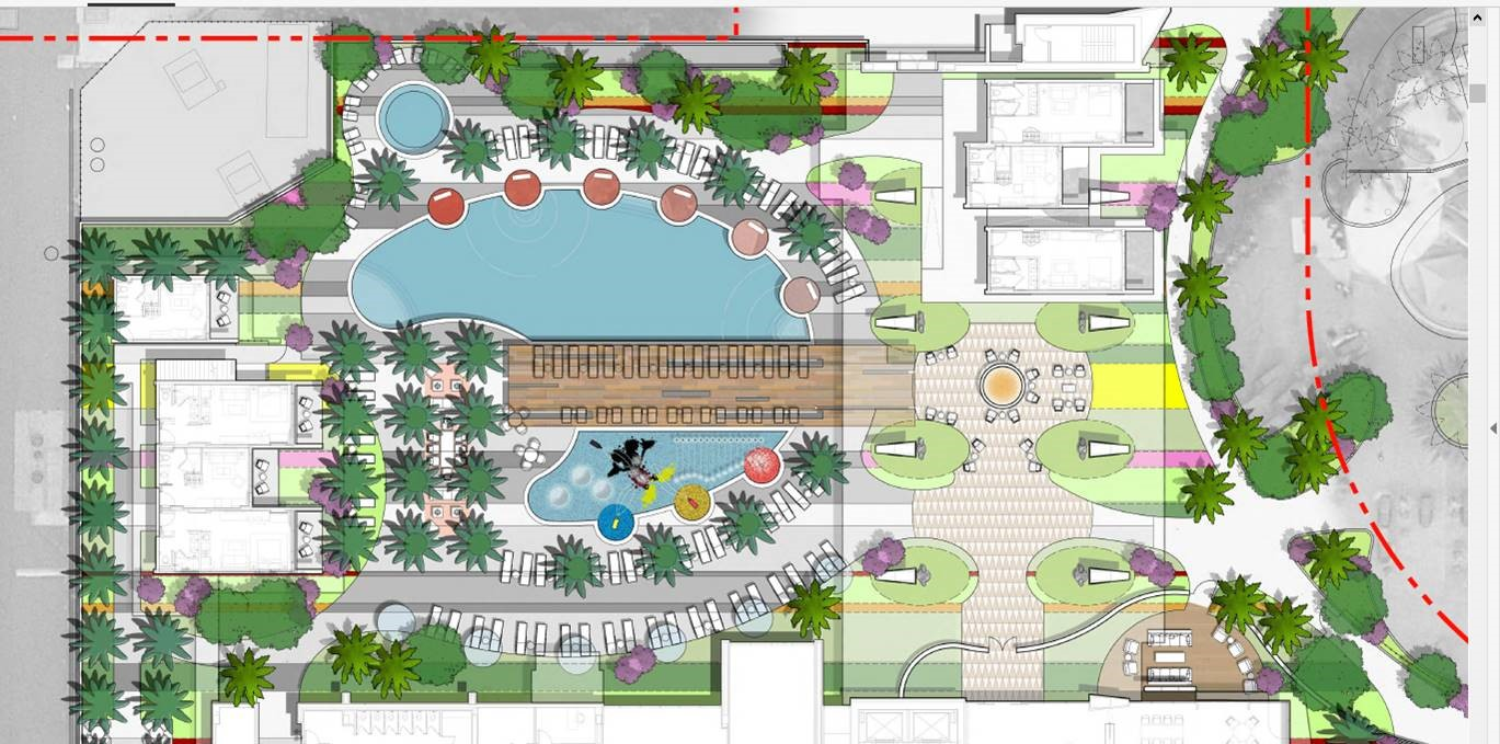 Disneyland Tower | Blueprint Outside the Disneyland Tower for Amenities